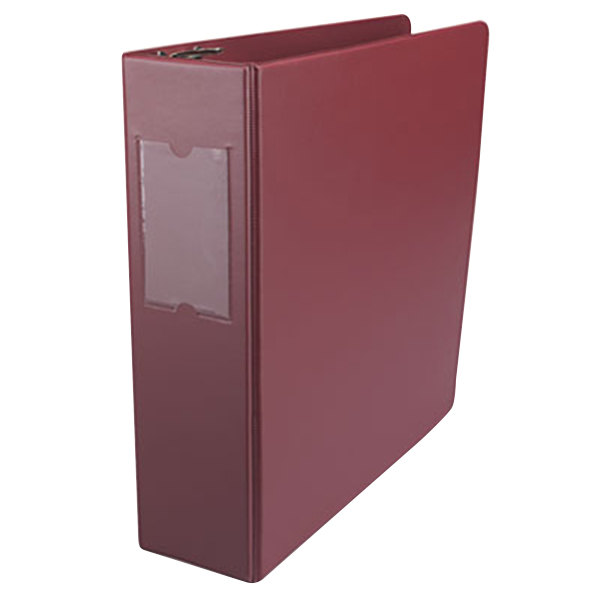 "Universal UNV35416 Burgundy Economy Non-Stick Non-View Binder with 3"" Round Rings and Spine Label Holder Main Image 1"
