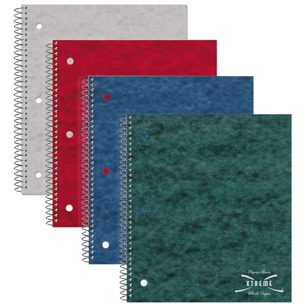 "National 31987 8 7/8"" x 11"" Assorted Color College Rule 1 Subject Wirebound Notebook - 80 Sheets"