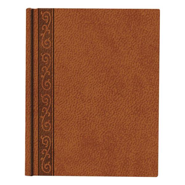 "Blueline A8005 9 1/4"" x 7 1/4"" Tan College Rule 1 Subject Da Vinci Notebook - 75 Sheets"