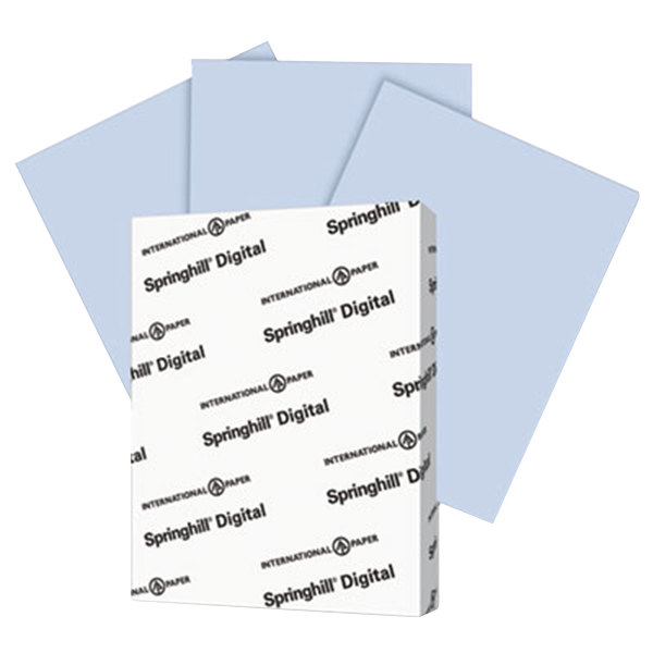 "International Paper 057000 Springhill Digital 8 1/2"" x 11"" Orchid Pack of 7 pt. Vellum Paper Cover Stock - 250 Sheets"
