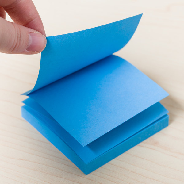 """Universal UNV35611 3"""" x 3"""" Assorted Bright Color Fan-Folded Pop-Up Note - 12/Pack"""