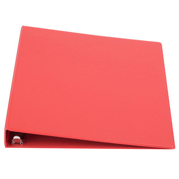 Universal UNV31403 Red Economy Non-Stick Non-View Binder with 1 inch Round Rings