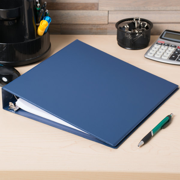 "Universal UNV33402 Royal Blue Economy Non-Stick Non-View Binder with 1 1/2"" Round Rings"