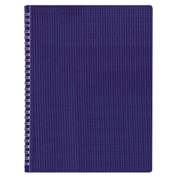 """Blueline B4182 8 1/2"""" x 11"""" Blue College Rule Poly Cover Notebook, Letter - 80 Sheets"""