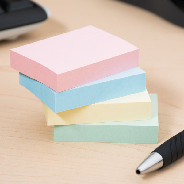 "Universal UNV35663 1 1/2"" x 2"" Assorted Pastel Color Self-Stick Note - 12/Pack Main Image 8"