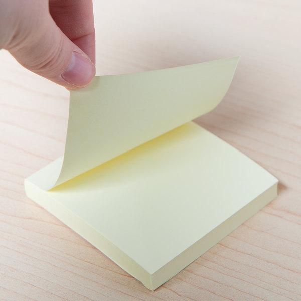 "Universal UNV35688 3"" x 3"" Yellow Self-Stick Note - 18/Pack"