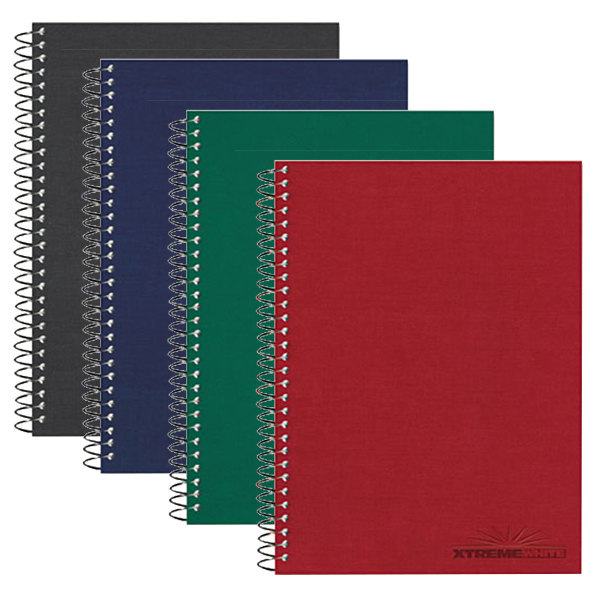 "National 31364 9 1/2"" x 6 3/8"" Assorted Color College Rule 3 Subject Wirebound Notebook - 120 Sheets Main Image 1"