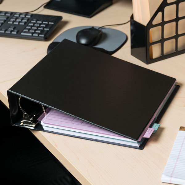 """Universal UNV20791 Black Non-View Binder with 3"""" Slant Rings Main Image 11"""