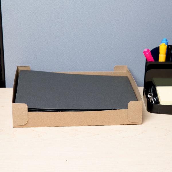 Universal UNV56616 Letter Size 2-Pocket Embossed Paper Pocket Folder, Black - 25/Box Main Image 7