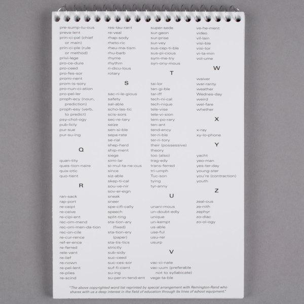 mead 43082 6 u0026quot  x 9 u0026quot  white gregg rule spell-write spiral steno book