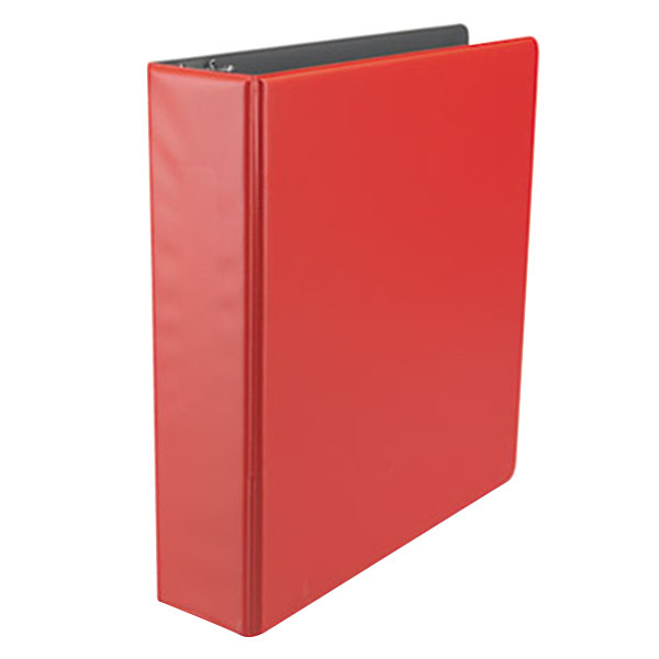 "Universal UNV34403 Red Economy Non-Stick Non-View Binder with 2"" Round Rings Main Image 1"