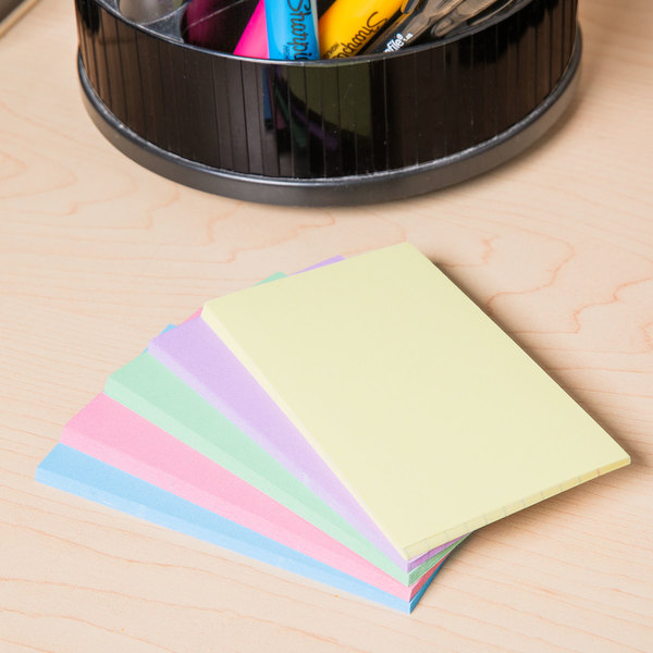 """Universal UNV47216 3"""" x 5"""" Assorted Color Ruled Index Cards - 100/Pack"""