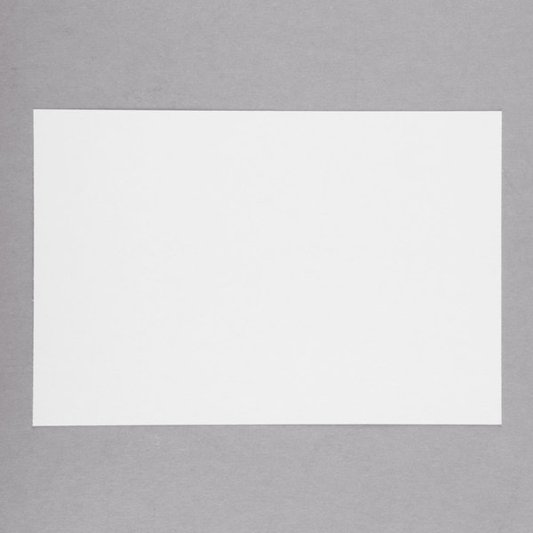 Universal UNV47220 4 inch x 6 inch White Unruled Index Cards - 100/Pack