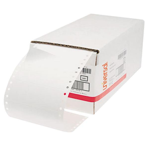"""Universal UNV70112 4"""" x 1 7/16"""" White Dot Matrix Printer Mailing Labels - 5000/Box"""