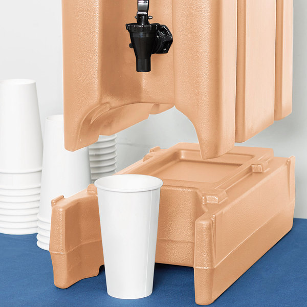 """Cambro R500LCD157 4 9/16"""" Coffee Beige Riser for 2.5, 4.75, and 5.25 Gallon Cambro Insulated Beverage Dispensers Main Image 4"""