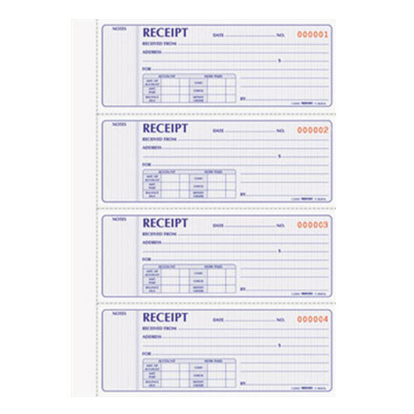 Rediform Office 8L816 2-Part Carbonless Flexible Cover Numbered Receipt Book with 400 Sheets Main Image 1