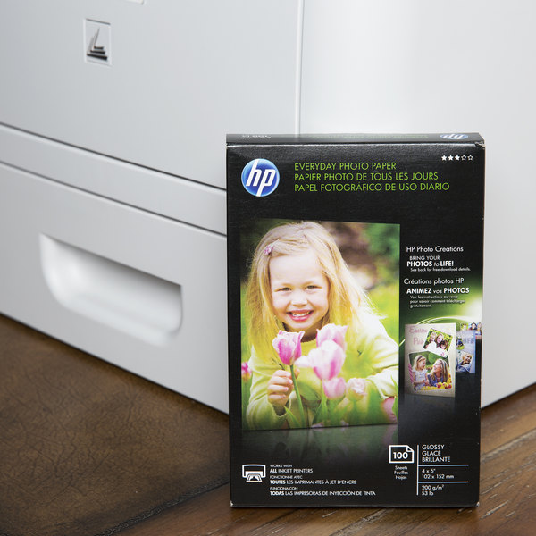 "Hewlett-Packard CR759A 4"" x 6"" Glossy Everyday Pack of 53# Photo Paper - 100 Sheets"