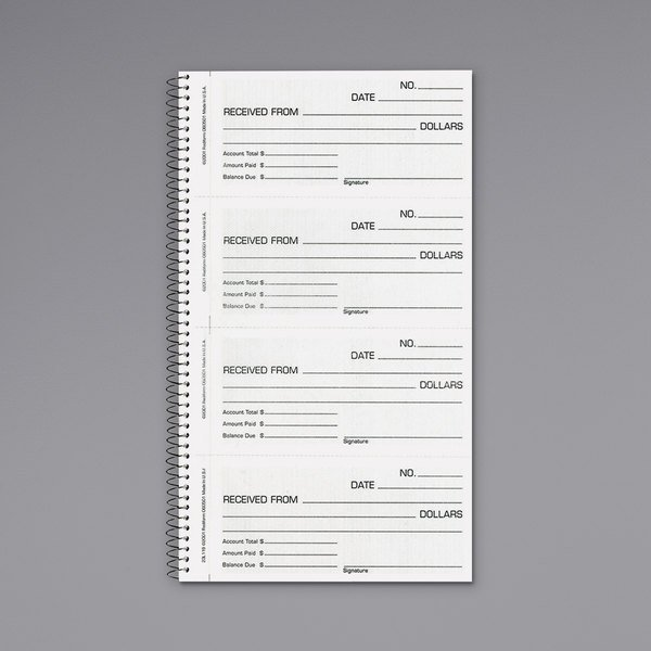 Rediform Office 23L115 2-Part Carbonless Money and Rent Unnumbered Receipt Book with 200 Sheets Main Image 1