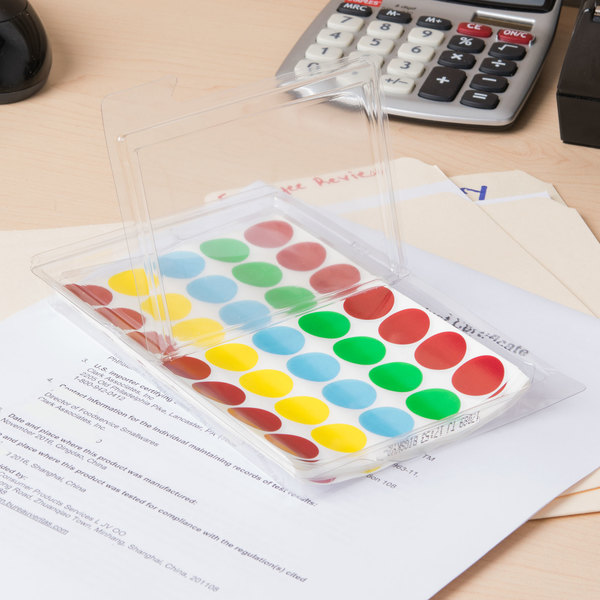 """Avery 5473 3/4"""" Round Assorted Removable See-Through Color-Coding Dot Labels - 1015/Pack"""