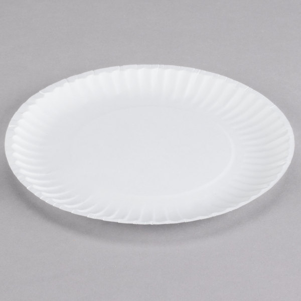 9 U0026quot White Uncoated Paper Plate 100 Pack