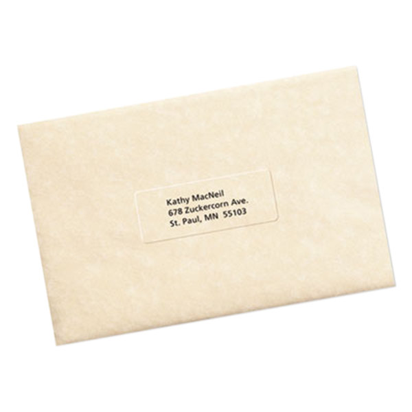 avery 5630 1 x 2 5 8 easy peel clear mailing address labels 750 pack