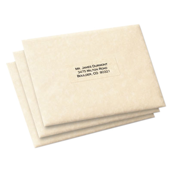 Avery 5660 1 x 2 5 8 easy peel clear mailing address for Xerox label templates