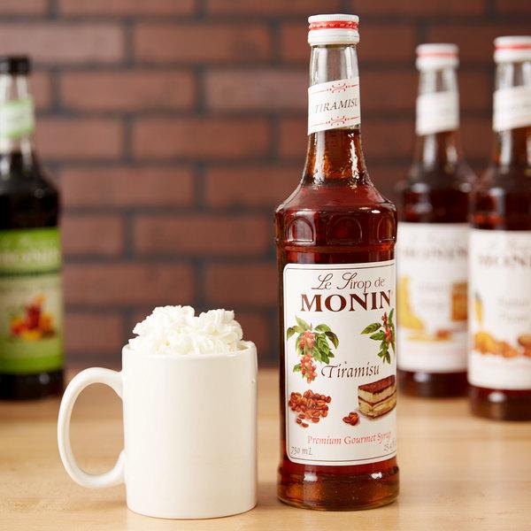 Monin 750 mL Premium Tiramisu Flavoring Syrup