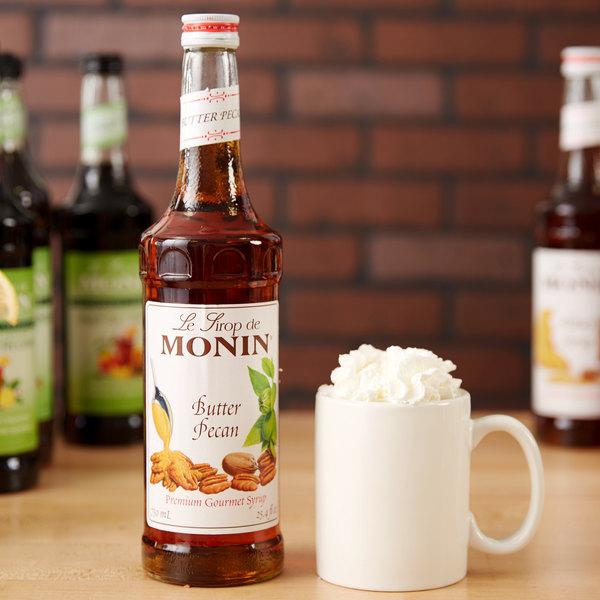 Monin 750 mL Premium Butter Pecan Flavoring Syrup