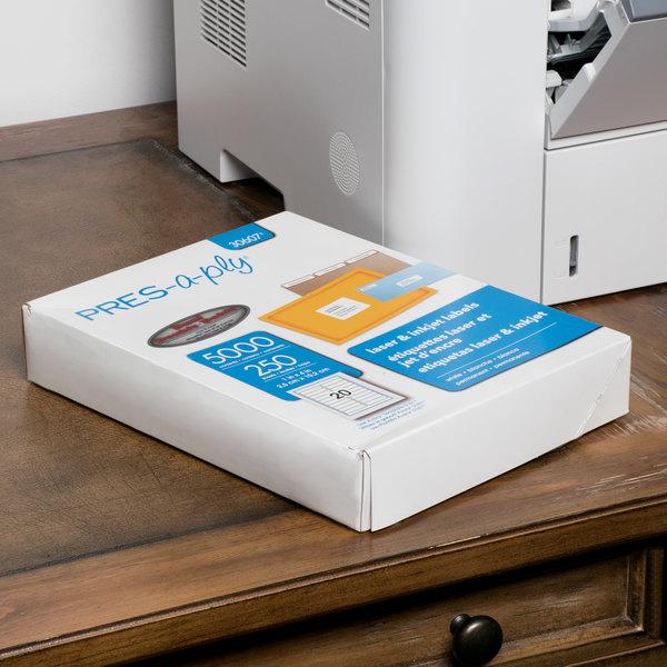"Avery 30607 1"" x 4"" White Laser Address Labels - 5000/Box Main Image 6"