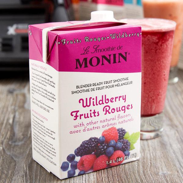Monin 46 oz. Wildberry Fruit Smoothie Mix