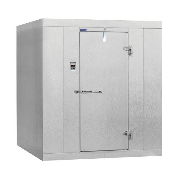 "Left Hinged Door Nor-Lake KLB7746-W Kold Locker 6' x 4' x 7' 7"" Indoor Walk-In Cooler with Wall Mounted Refrigeration"