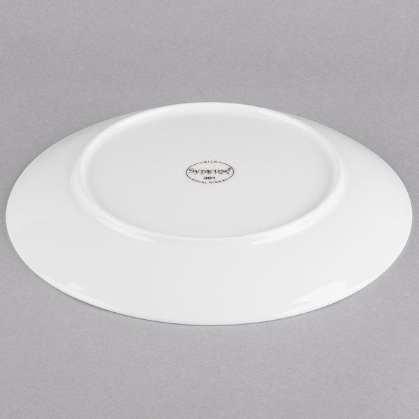Syracuse China 987659301 Silk 11 Round Royal Rideau White Porcelain Coupe Plate 12 Case
