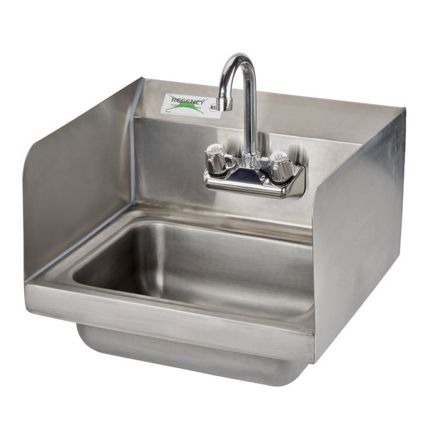 Regency 17 X 15 Wall Mounted Hand Sink With Gooseneck Faucet And
