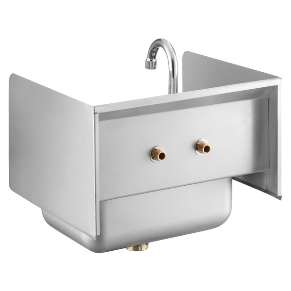 Regency Hand Sink With Splash Guard Webstaurantstore