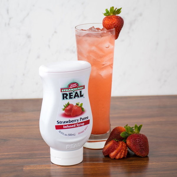 Real 16.9 fl. oz. Strawberry Infused Syrup