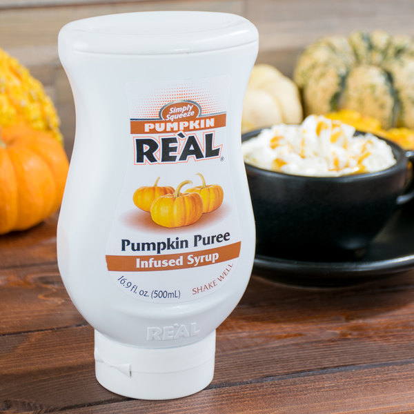 Real 16.9 fl. oz. Pumpkin Puree Infused Syrup