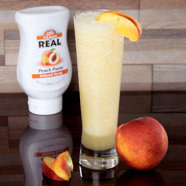 Peach Real 16.9 fl. oz. Infused Syrup