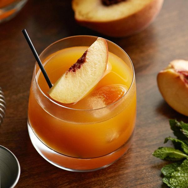 Real 16.9 fl. oz. Peach Puree Infused Syrup Main Image 6