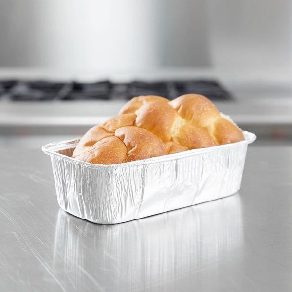 D&W Fine Pack A82 2 lb. Aluminum Foil Loaf Pan - 500/Case