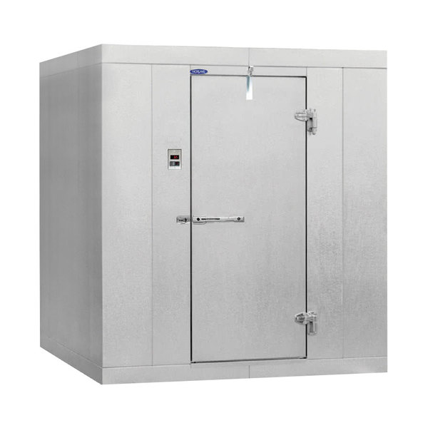 "Nor-Lake KLB7456-W Kold Locker 6' x 5' x 7' 4"" Floorless Indoor Walk-In Cooler with Wall Mounted Refrigeration"
