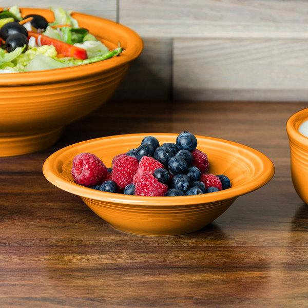 Homer Laughlin 472325 Fiesta Tangerine 11 oz. Stacking Cereal Bowl - 12/Case