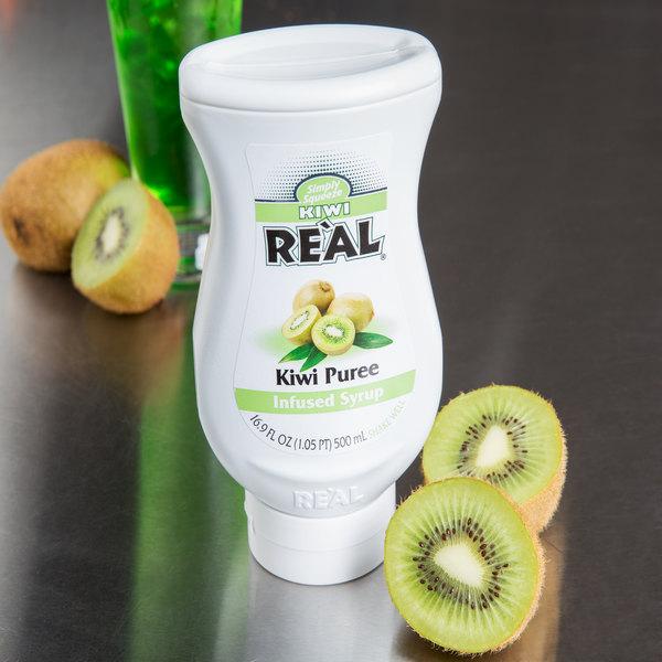 Real 16.9 fl. oz. Kiwi Puree Infused Syrup