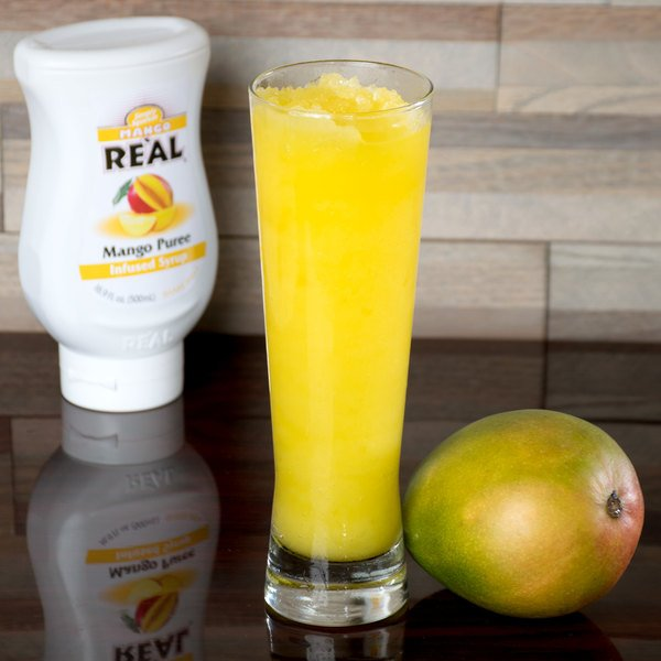 Real 16.9 fl. oz. Mango Puree Infused Syrup