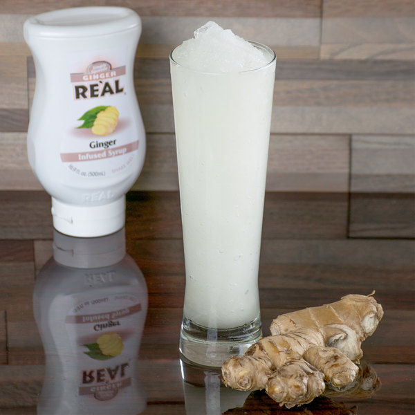 Real 16.9 fl. oz. Ginger Infused Syrup Main Image 4