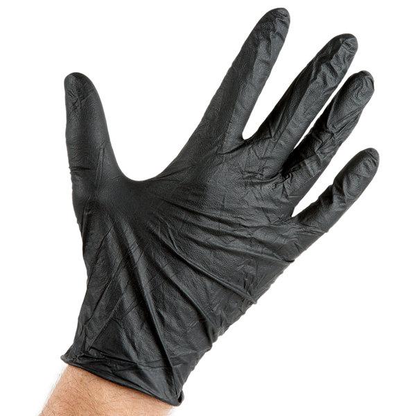 Powder-Free Heavy Duty Nitrile Gloves Size L Blue /& White US Shipping Black