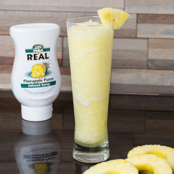 Real 16.9 fl. oz. Pineapple Puree Infused Syrup