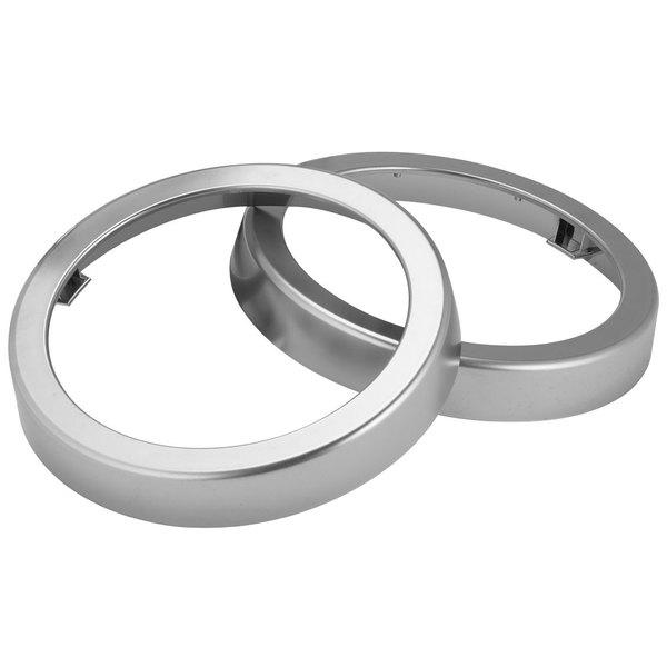San Jamar C54XC Metal Finish Trim Ring for Sentry Cup Dispensers - 2/Pack