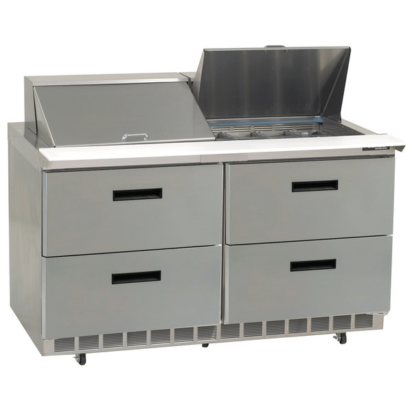 """Delfield D4464N-16 64"""" 4 Drawer Refrigerated Sandwich Prep Table"""