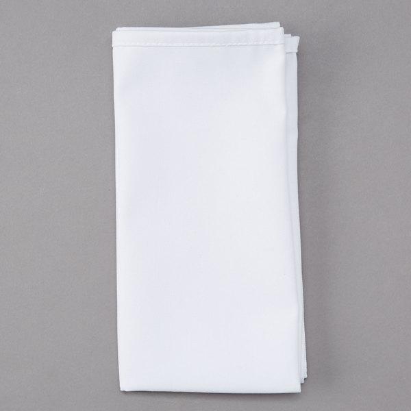Intedge White 50 50 Polycotton Blend Cloth Napkins 22 X 22 12 Pack