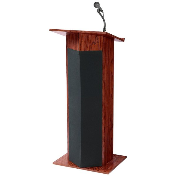 Oklahoma Sound 111PLSMY Power Plus Lectern with Sound - Assembled, Mahogany Finish